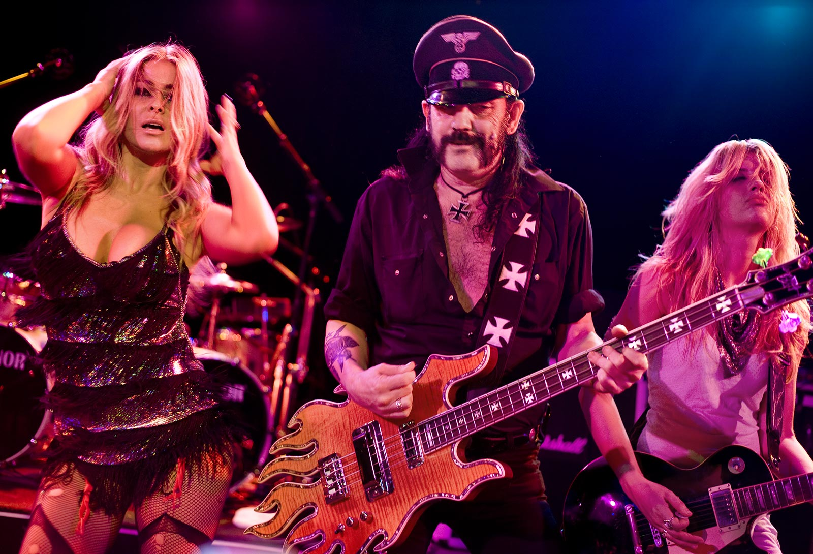 Carmen_Electra Lemmy_Kilmister Allison_Robertson Chelsea_Girls los_angeles_music_photographer los_angeles_band_photographer los_angeles_live_music_photographer music_photography