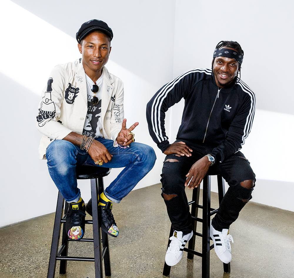 Pharrell_Williams Pusha_T Adidas los_angeles_portrait_photographer bts_photographer set_photographer unit_photographer