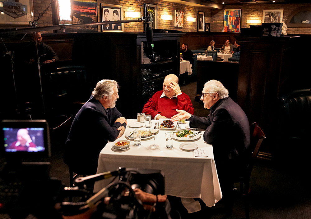 set_photographer bts_photographer unit_photographer Robert_De_Niro Martin_Scorsese Don_Rickles Craigs_Restaurant aarp_studios los_angeles_set_photographer los_angeles_bts_photographer dinner_with_don stamper_lumber_company